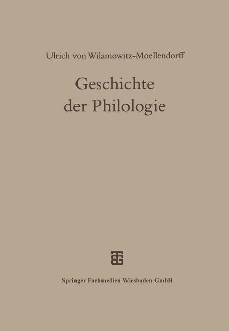 Abbildung von Geschichte der Philologie | 2013