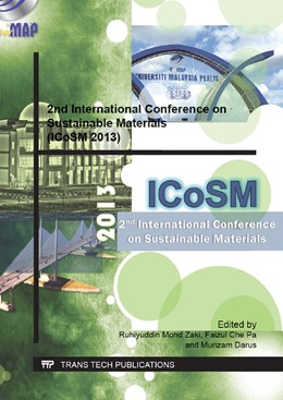 Abbildung von Zaki / Faizul / Murizam   2nd International Conference on Sustainable Materials (ICoSM 2013)   2013   Selected, peer reviewed papers...   Volume 795