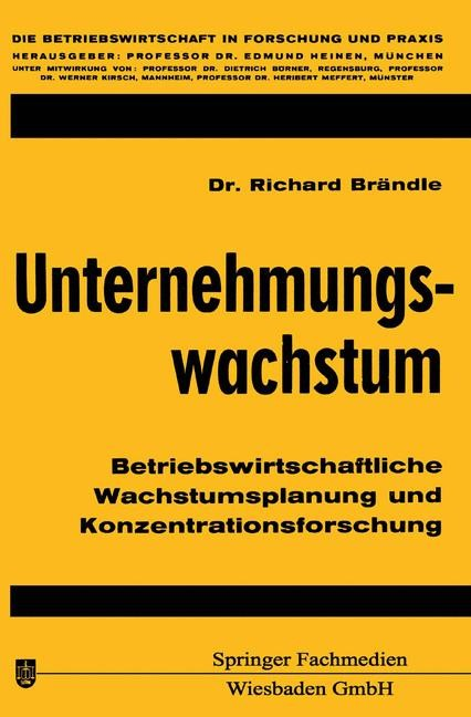 Unternehmungswachstum | Brändle | Softcover reprint of the original 1st ed. 1970, 1970 | Buch (Cover)