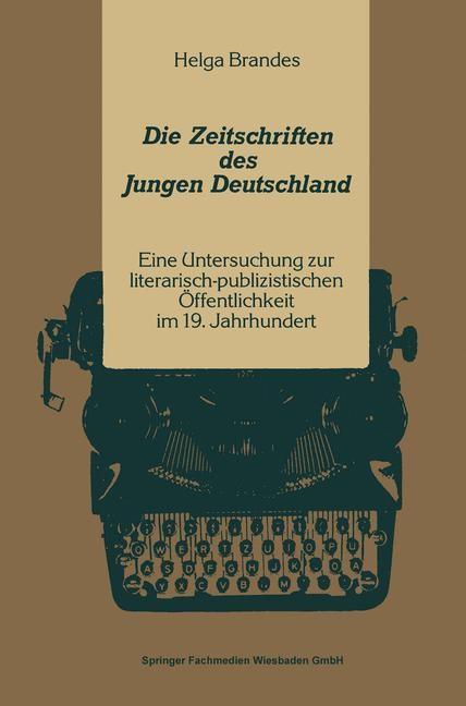 Die Zeitschriften des Jungen Deutschland | Brandes, 1991 | Buch (Cover)