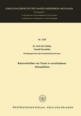 Abbildung von Köhler | Brennverhalten von Tonen in verschiedenen Atmosphären | 1965 | 1537