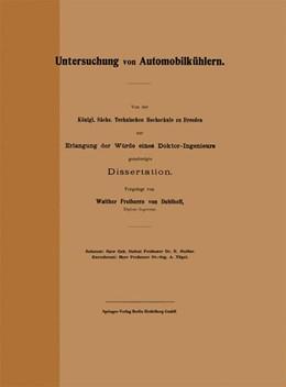 Abbildung von Doblhoff | Untersuchung von Automobilkühlern | 1910 | Von der Königl. Sächs. Technis... | 93