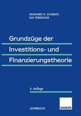 Abbildung von Schmidt / Terberger-Stoy   Grundzüge der Investitions- und Finanzierungstheorie   2013
