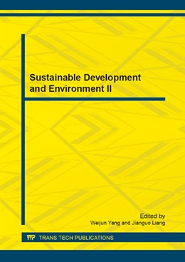 Abbildung von Yang / Liang | Sustainable Development and Environment II | 2013 | Selected, peer reviewed papers... | Volumes 409-410