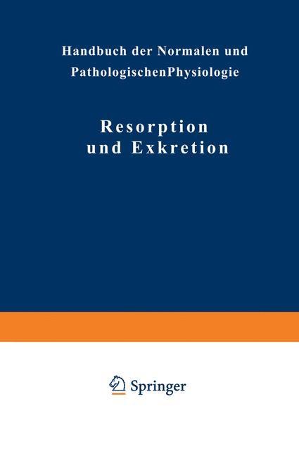 Abbildung von Adler / Ellinger / Fürth   Resorption und Exkretion   1929