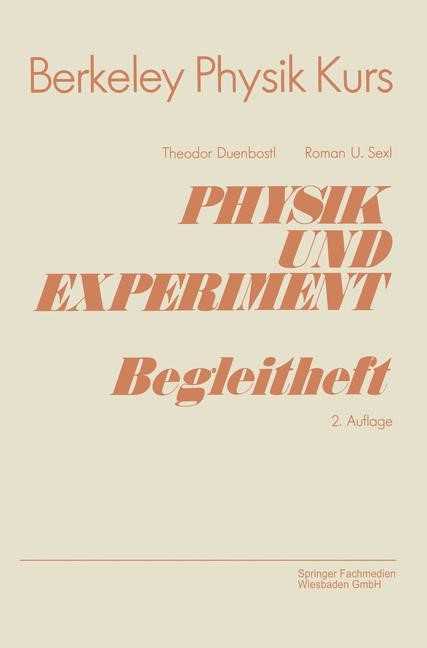 Physik und Experiment   Duenbostl, 1984   Buch (Cover)