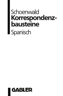 Abbildung von Schoenwald | Korrespondenzbausteine Spanisch | 1988 | 2013