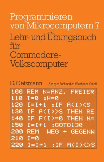 Lehr- und Übungsbuch für Commodore-Volkscomputer | Oetzmann, 1983 | Buch (Cover)