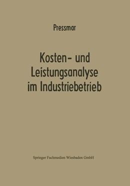 Abbildung von Preßmar | Kosten- und Leistungsanalyse im Industriebetrieb | 1971 | 2013 | 3