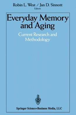 Abbildung von West / Sinnott | Everyday Memory and Aging | 2013 | Current Research and Methodolo...