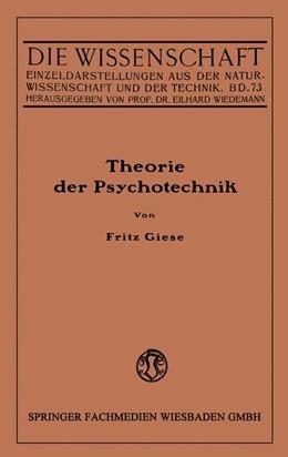 Abbildung von Giese | Theorie der Psychotechnik | 1925 | Grundzüge der praktischen Psyc... | 73