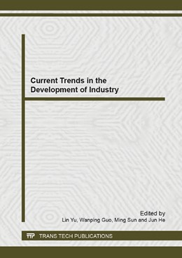 Abbildung von Yu / Guo / Sun / He   Current Trends in the Development of Industry   2013   Selected, peer reviewed papers...   Volumes 785-786