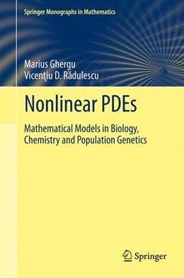 Abbildung von Ghergu / RADULESCU | Nonlinear PDEs | 2013 | Mathematical Models in Biology...