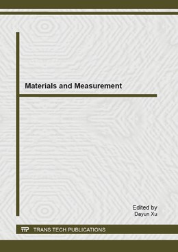 Abbildung von Xu | Materials and Measurement | 2013 | Selected, peer reviewed papers... | Volume 804