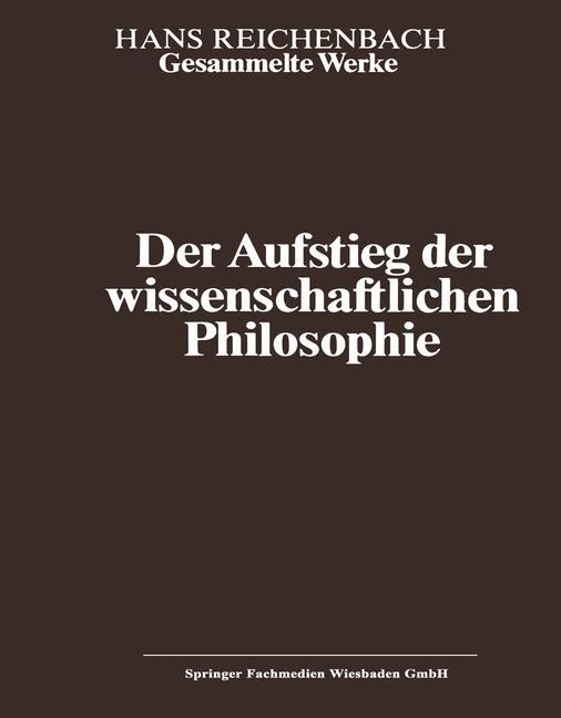 Der Aufstieg der wissenschaftlichen Philosophie | Kamlah / Reichenbach, 2013 | Buch (Cover)