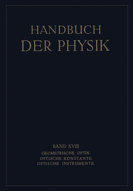 Abbildung von Boegehold / Geiger / Scheel | Geometrische Optik. Optische Konstante. Optische Instrumente | 1927