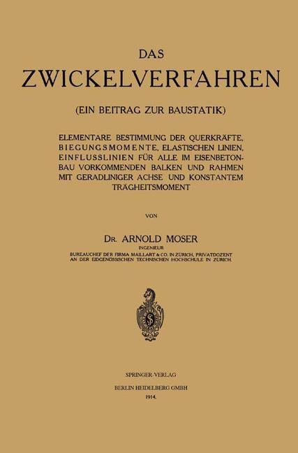 Das Zwickelverfahren   Moser, 1914   Buch (Cover)