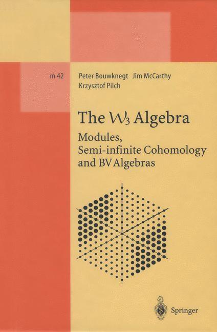The W3 Algebra | Bouwknegt / McCarthy / Pilch, 2013 | Buch (Cover)