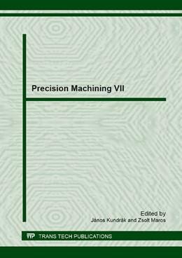 Abbildung von Kundr?k / Maros | Precision Machining VII | 1. Auflage | 2014 | Volume 581 | beck-shop.de