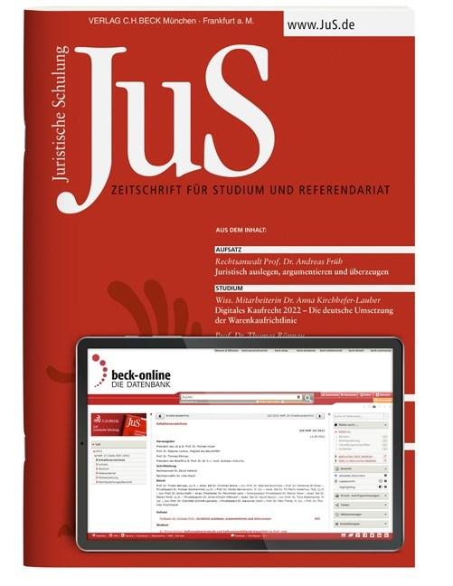Abbildung von JuS • Juristische Schulung | 59. Jahrgang | 2019