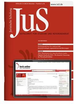 Abbildung von JuS • Juristische Schulung | 58. Auflage | 2020 | beck-shop.de
