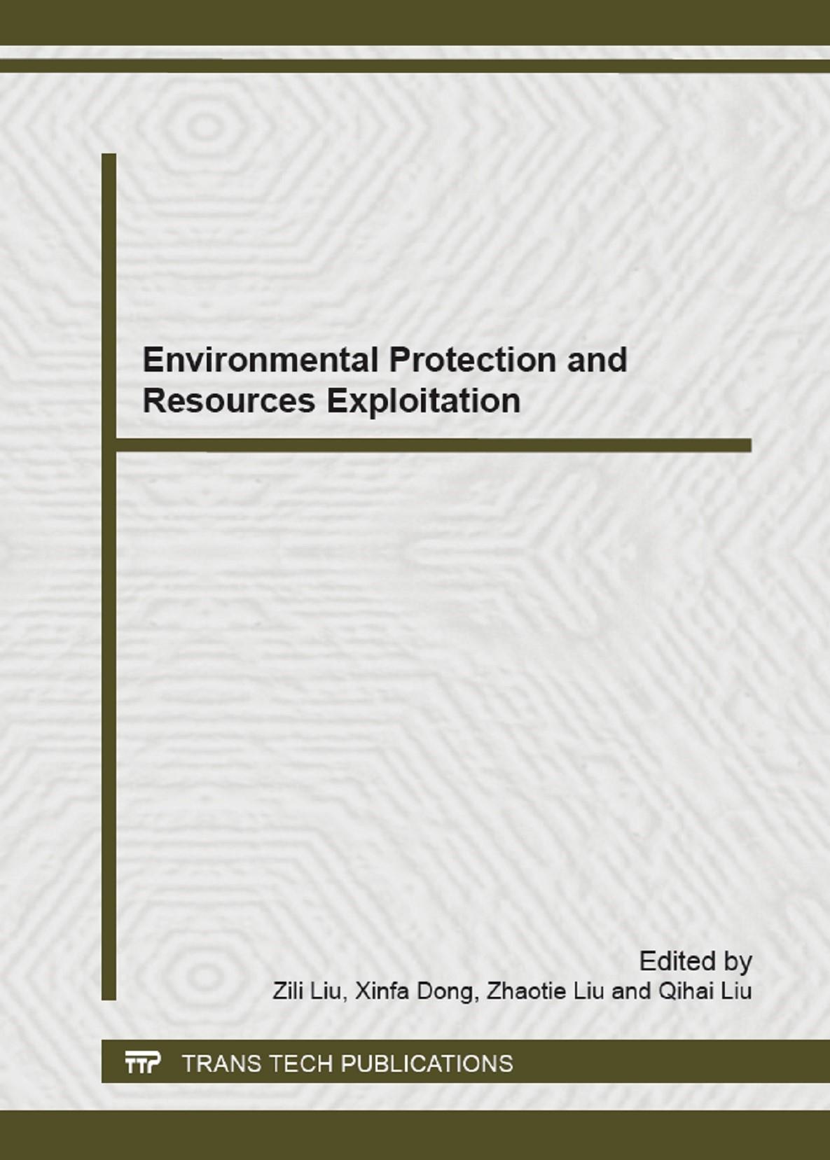 Abbildung von Liu / Dong   Environmental Protection and Resources Exploitation   2013