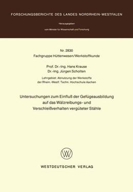 Abbildung von Krause | Untersuchungen zum Einfluß der Gefügeausbildung auf das Wälzreibungs- und Verschleißverhalten vergüteter Stähle | 1979 | 2830