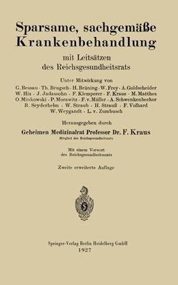 Abbildung von Kraus | Sparsame, sachgemäße Krankenbehandlung | 1927