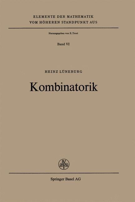 Kombinatorik   Lüneburg, 1971   Buch (Cover)
