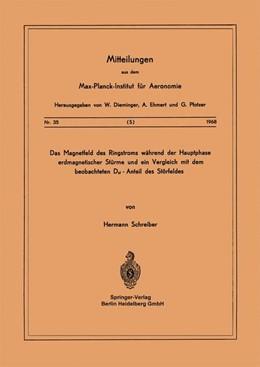 Abbildung von Schreiber   Das Magnetfeld des Ringstroms während der Hauptphase Erdmagnetischer Stürme und ein Vergleich mit dem Beobachteten Dst - Anteil des Störfeldes   1968   35