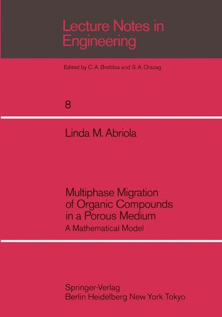Abbildung von Abriola | Multiphase Migration of Organic Compounds in a Porous Medium | 1984