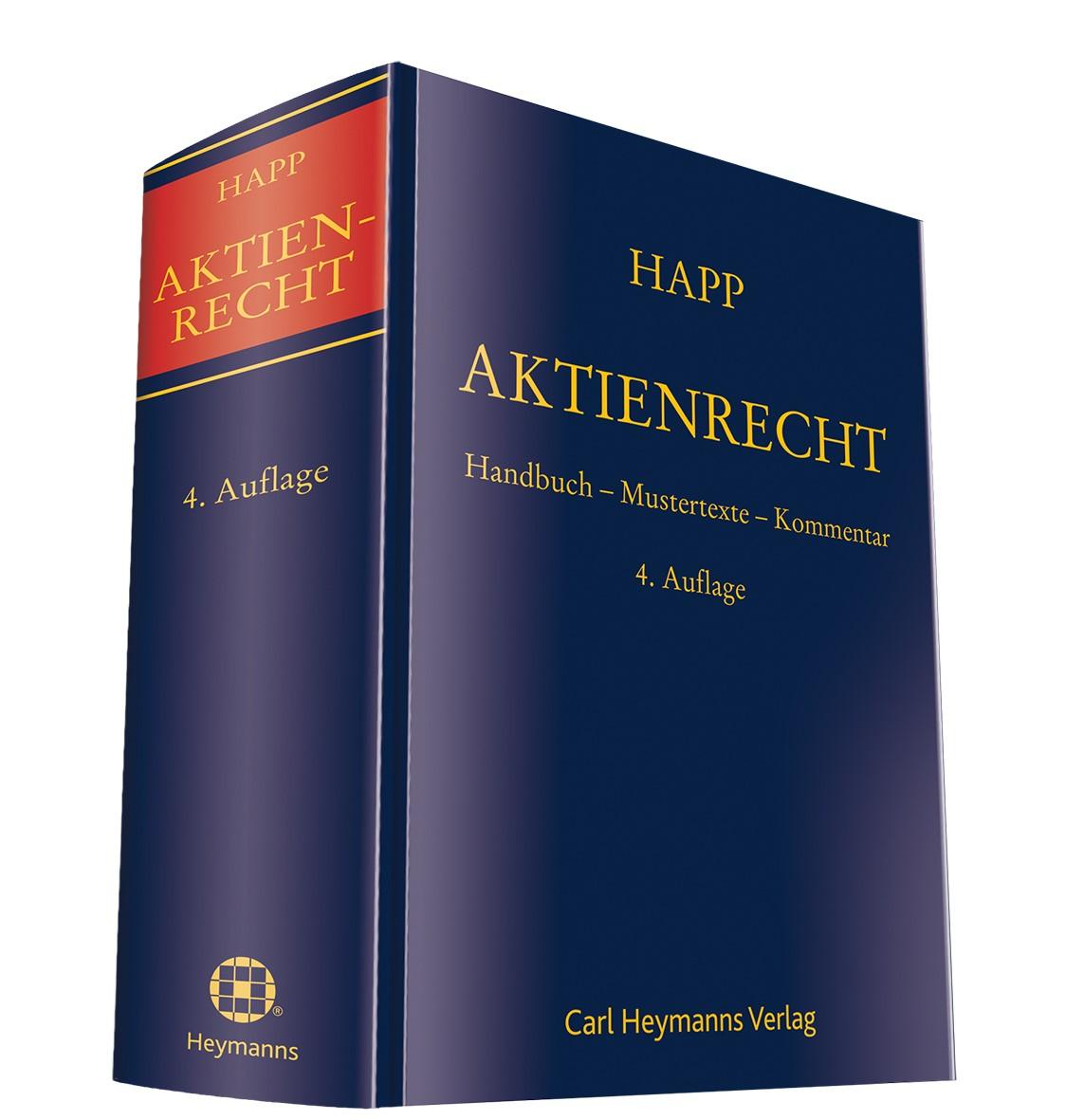 Aktienrecht | Happ / Groß (Hrsg.) | 4. Auflage, 2014 | Buch (Cover)