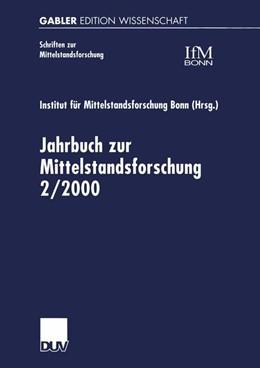 Abbildung von Jahrbuch zur Mittelstandsforschung 2/2000 | 2000 | 88