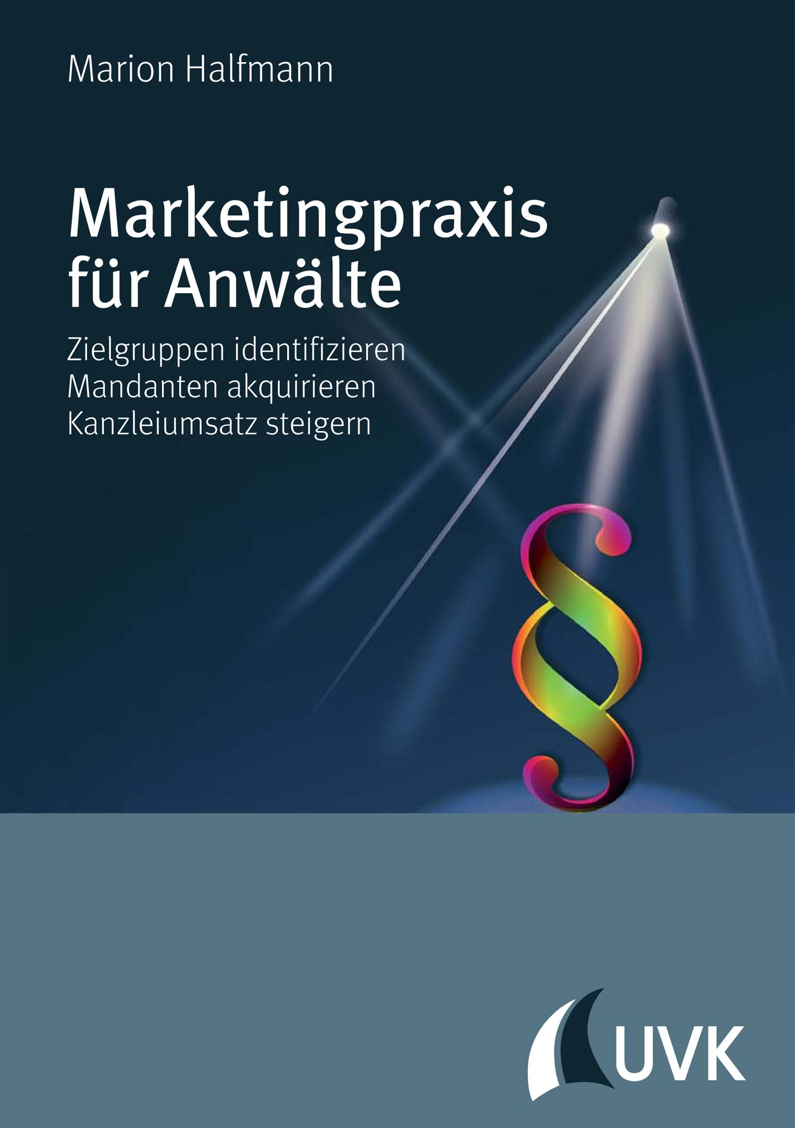 Marketingpraxis für Anwälte | Halfmann, 2016 | Buch (Cover)