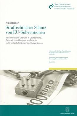 Abbildung von Herbert | Strafrechtlicher Schutz von EU-Subventionen | 1. Auflage 2013 | 2013 | Reichweite und Grenzen in Deut... | 136