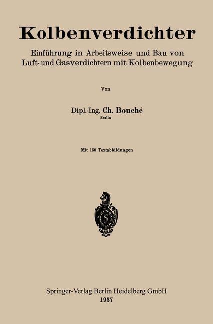 Kolbenverdichter   Bouché, 1937   Buch (Cover)