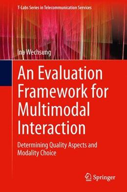 Abbildung von Wechsung | An Evaluation Framework for Multimodal Interaction | 1. Auflage | 2014 | beck-shop.de