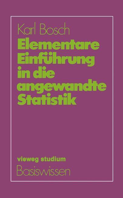 Elementare Einführung in die angewandte Statistik | Bosch, 1982 | Buch (Cover)