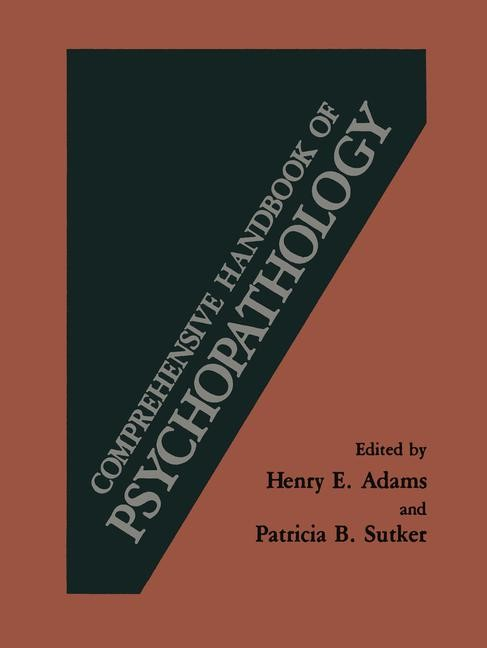 Abbildung von Adams | Comprehensive Handbook of Psychopathology | 2012