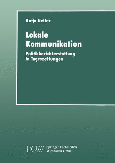 Lokale Kommunikation, 1999 | Buch (Cover)