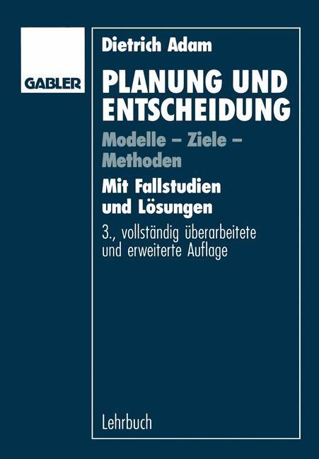Planung und Entscheidung | Adam | 3. Aufl. 1993, 1992 | Buch (Cover)