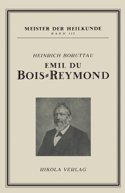 Emil du Bois-Reymond | Boruttau. Heinrich, 1922 | Buch (Cover)