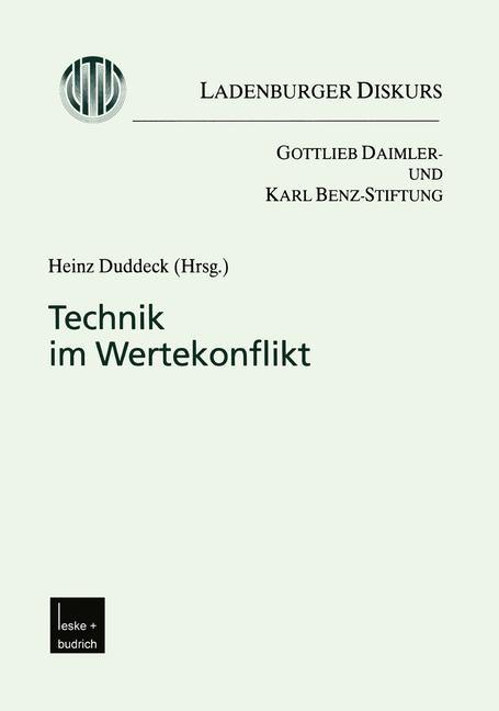 Technik im Wertekonflikt | Duddeck, 2001 | Buch (Cover)
