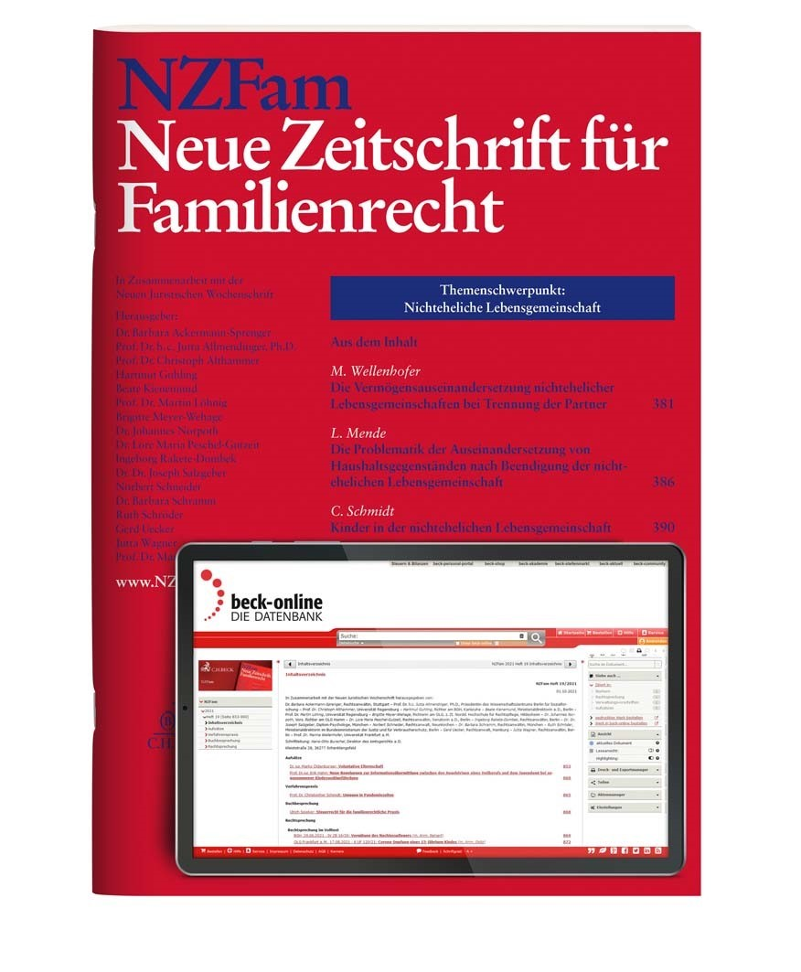 NZFam • Neue Zeitschrift für Familienrecht | 6. Jahrgang (Cover)