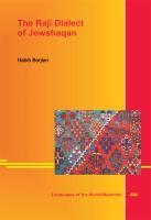 The Raji Dialect of Jowshaqan   Borjian, 2013   Buch (Cover)