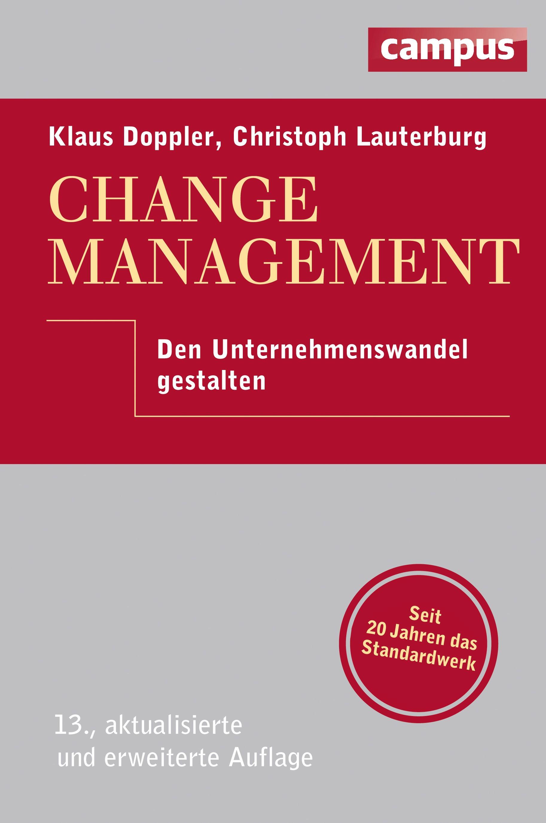 Change Management | Doppler / Lauterburg | 13., aktualisierte und erweiterte Auflage, 2014 | Buch (Cover)