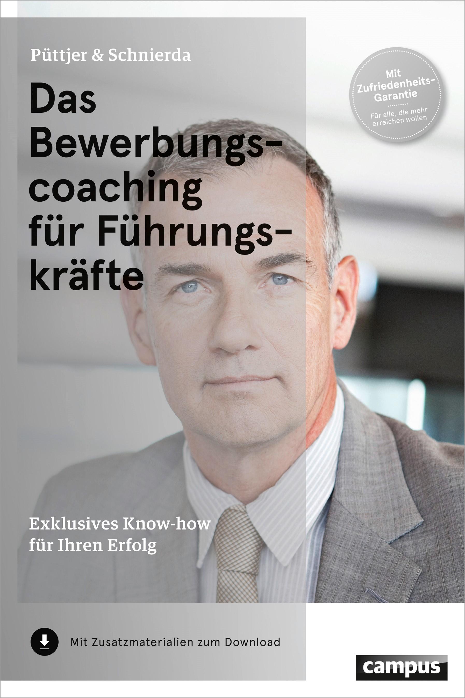 Das Bewerbungscoaching für Führungskräfte | Püttjer / Schnierda | 7. aktualisierte Auflage, 2014 | Buch (Cover)