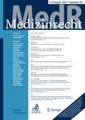 MedR - Medizinrecht | 36. Jahrgang (Cover)