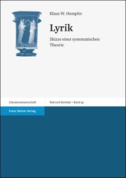 Abbildung von Hempfer   Lyrik   1. Auflage   2014   34   beck-shop.de