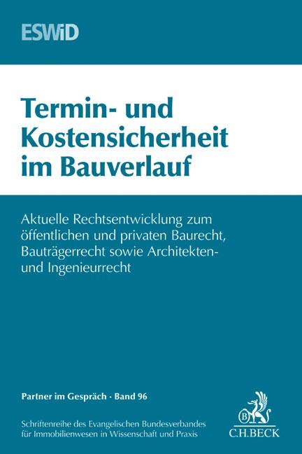 Termin- und Kostensicherheit im Bauverlauf | ESWiD | Buch (Cover)